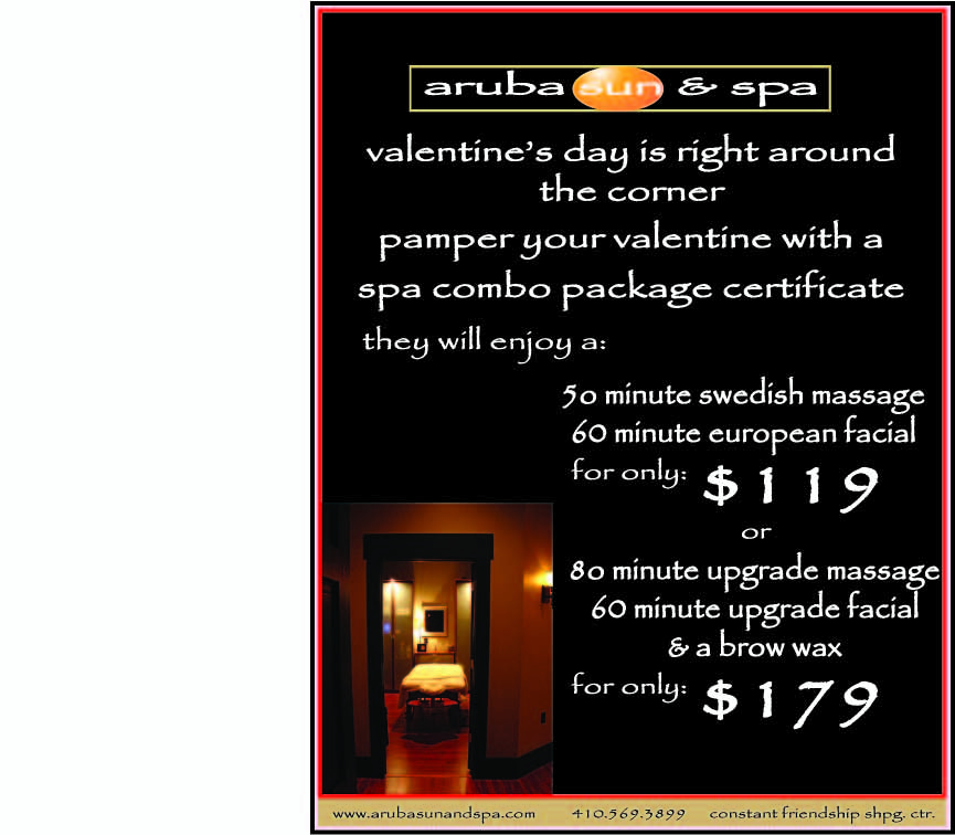 Valentine's Day Spa Combo Table Sign